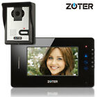 "ZOTER 7"" Black LCD TFT Screen Touch Key Video Door Phone Intercom 600TVL Camera"