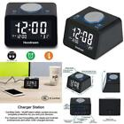 Large display Led Dual Alarm Clock With Dual Usb Charging **FAST SHIPPING** New