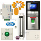 Fingerprint RFID Access Control System Kit + 600lbs Magnetic NC Door Lock
