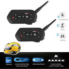 2-Pack 1200M Bluetooth Motorcycle Helmet Intercom Interphone VOX Headset 1.2KM