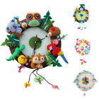 DIY Cute Nonwoven Cloth Package Forest Animal Ice Cream Horse To-toro Wall Clock