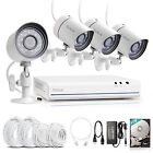 Funlux 1080p 4CH NVR 1TB HDD 1.0MP Outdoor Network PoE Home Night Vision System