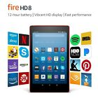 """Fire HD 8 Tablet with Alexa 8"""" HD Display 16 GB Punch Red - with Special Offers"""