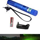 High Power Green Laser Pointer Pen 532NM Adjustable Focus Burning Starry Lazer
