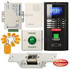 Fingerprint RFID Access Control System + Electric Strike Lock NO Mode