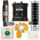 DIY Access Control RFID Key Ring Kit + Electric Strike for Push Bar Door Lock
