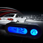 Car Auto Digital LED Electronic Time Clock Thermometer With Backlight