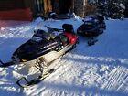 2 ski-doo legend snowmobiles & trailer