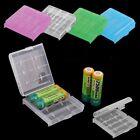 Plastic Practical Hot Sale Hard AA AAA Battery Storage Box Case 4 Pcs Holder