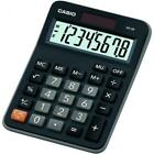 Casio MX8B/BK Calculator w/ 8 Digit Display Dual Powered Plastic Key Percentage