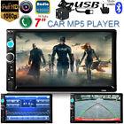 7'' 2DIN Car In-Dash Bluetooth Stereo Radio MP5 MP3 Player FM USB/AUX/TF +Camera