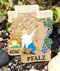 ENAMEL GERMAN AUTOMOBILE CAR BADGE # ADAC PFALZ HOME RALLY 2000 porsche mercedes