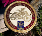 VINTAGE ENAMEL AUTOMOBILE MOTOR CYCLE / CAR BADGE # ADAC SAUERLAND RALLY 1971
