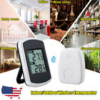 Indoor Outdoor Digital LCD Thermometer Monitor Wireless Sensor Weather Station