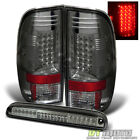 Smoke Fits 08-16 Ford F250 F350 F450 Sd Lumileds LED Tail Lights+3rd Brake Lamps