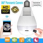 360 degree Panoramic 960P Hidden wifi Camera Light Bulb Security IP Camera