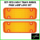 United Pacific C717221-2 1971-72 Chevrolet Truck Amber Park Light Lamp Lens Set