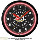 """CORVETTE 1956 To 1957 Neon 20"""" Wall Clock Made in the USA - 1 Year Warranty New"""