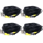 4 pack x 100ft Security Camera System Cable CCTV Video Wire BNC RCA DVR Cord