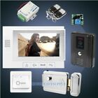 "HOMSECUR 7"" Wired Hands-free Video Door Phone Intercom System+Black Camera 1C1M"