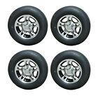*4* Rainier 205/75R15 LRD Trailer Tires & Aluminum Wheels S5 Black 5-4.5 acc