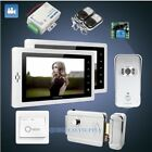 """HOMSECUR 7"""" Wired Video&Audio Home Intercom+Outdoor Monitoring for House/Flat"""