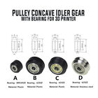 Plastic/Stainless Steel Pulley Concave Idler Gear With Bearing for 3D Printer