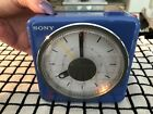 "Vintage '83 Sony ICF-A10W ""PURPLE"" AM/FM Radio Alarm Melody-4 Seasons -MINT"