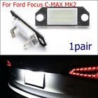 1pair 12V 24 LED Bulb Number License Plate Lights Lamps For Ford Focus C-MAX MK2