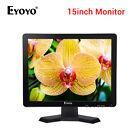 "15"" TFT LCD HD 1024*768 Monitor AV/BNC/VGA/HDMI w/ Speaker For CCTV Security DVD"