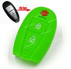 Green Silicone Case Cover For Suzuki Swift Kizashi SX4 S-Cross Remote Smart Key
