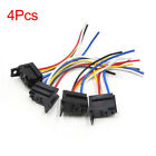 4pcs 5 Wrie Relay Wired Harness Socket Connector Black for Car Vehicle