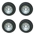 *4* Kenda Loadstar ST205/75D15 LRC Trailer Tires & Wheels Galvanized Spoke 5-4.5
