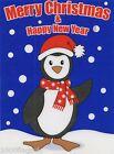 Christmas Cling On Vinyl Car Window Sticker - Penguin cc11