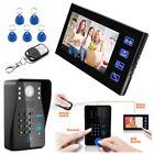7inch LCD Password Video Door Phone Doorbell Intercom System Camera Touch Key HQ