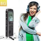 8GB Rechargeable LCD Digital Audio Sound Voice Recorder Dictaphone MP3 Player