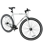 700C X 28C Fixed Gear Bicycle Racing Bicycle Aluminum Frame Shimano White
