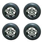 4* Rainier ST205/75R14 LRD Trailer Tires & Aluminum Wheels A1411 Black acc