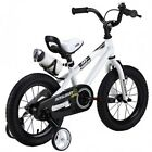 Bicycle for Kids White 14 Inch Little Boys Girls First Training Wheel Cycle Bike