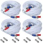 ANNKE 4-Pack 30M/ 100 Feet BNC Video Power Cable For CCTV Camera DVR Security x4