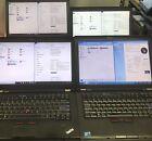 Lot of 4 laptops - Lenovo T420 + T41, i5-i7, 8GB RAM, SSD
