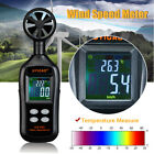 Digital LCD Anemometer Air Wind Speed Meter Tester Temperature Gauge Thermometer