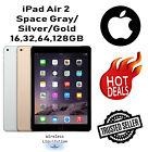 Apple iPad Air 2nd Gen SpaceGray/Gold/Silver 16GB 32GB 64GB 128GB Wi-Fi Tablet