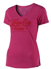 TROY LEE DESIGNS TLD WOMENS RASPBERRY PINK SPIKED V NECK SS TEE LOGO MX S M L XL