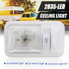 RV Interior Single Dome Led Ceiling Light Boat Camper Trailer 12v 280LM Dimmer