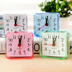 Creative Mini Square Quartz Clock Travel Alarm Clock Bedroom Home Desk Clock
