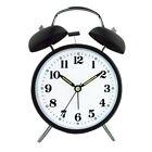 Vintage Two Bell Alarm Clock Bedside Desk Study Waking Up Clock No Snooze Clock