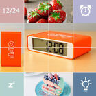 4x3inch Alarm Clock LED Display 12/24H Display LED Screen Wall Mount Desk Stand
