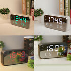 LED Digital Alarm Clock with USB Port Time Date Temperature Display Snooze