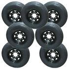 *7* Rainier ST235/80R16 Radial Trailer Tires & Wheels LRE 8-6.5 Black Spoke